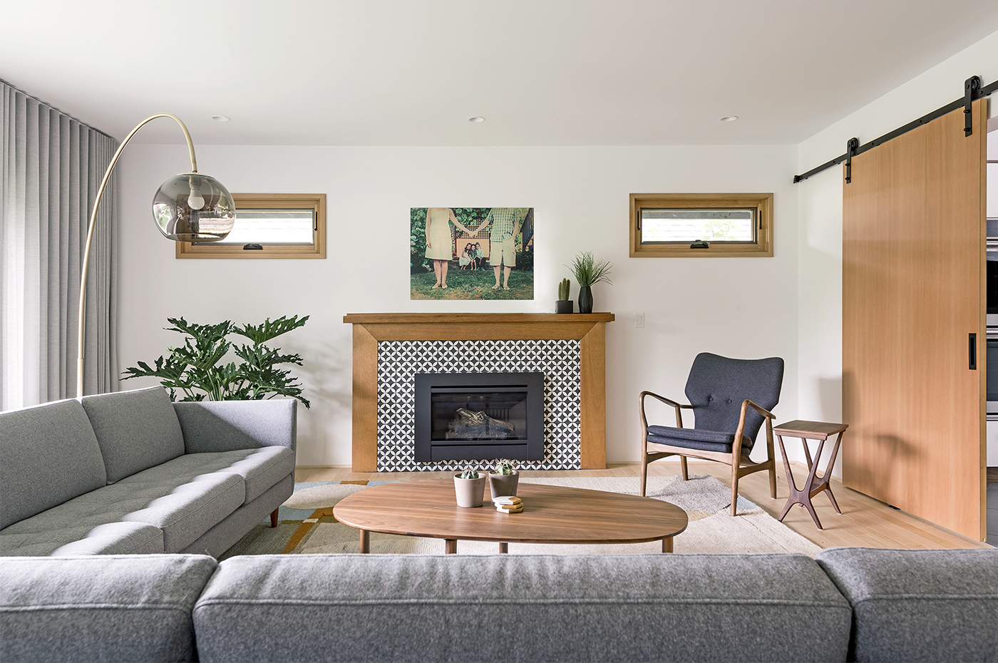 2) fireplace