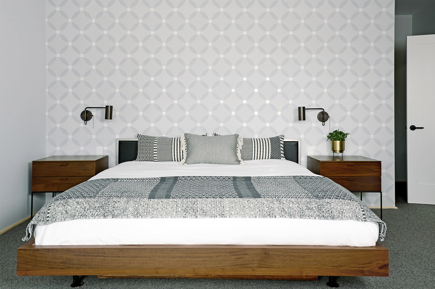 9) master bed