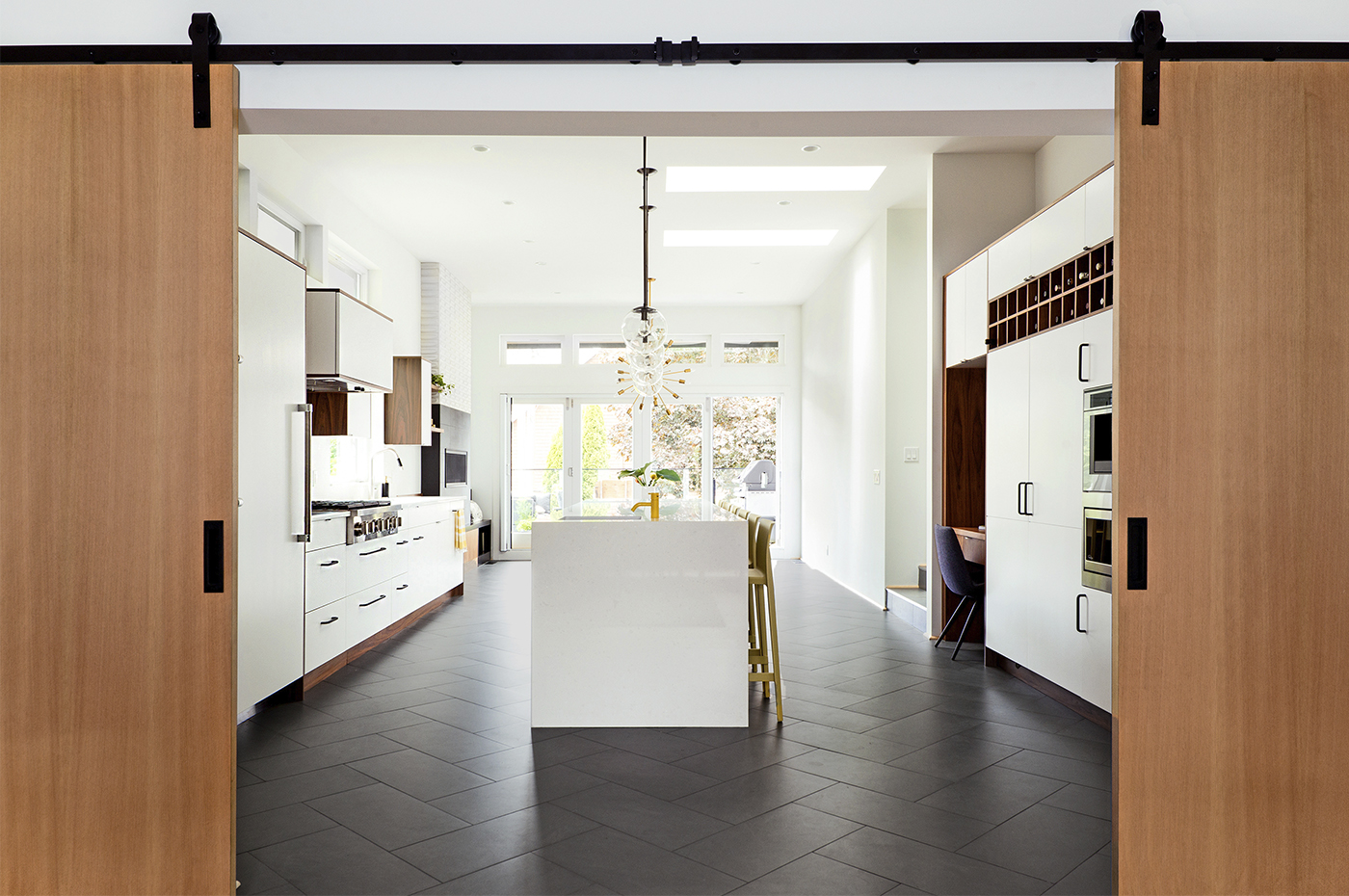 3) kitchen doors